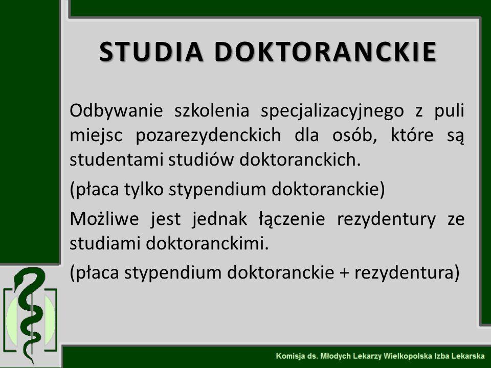 STUDIA DOKTORANCKIE