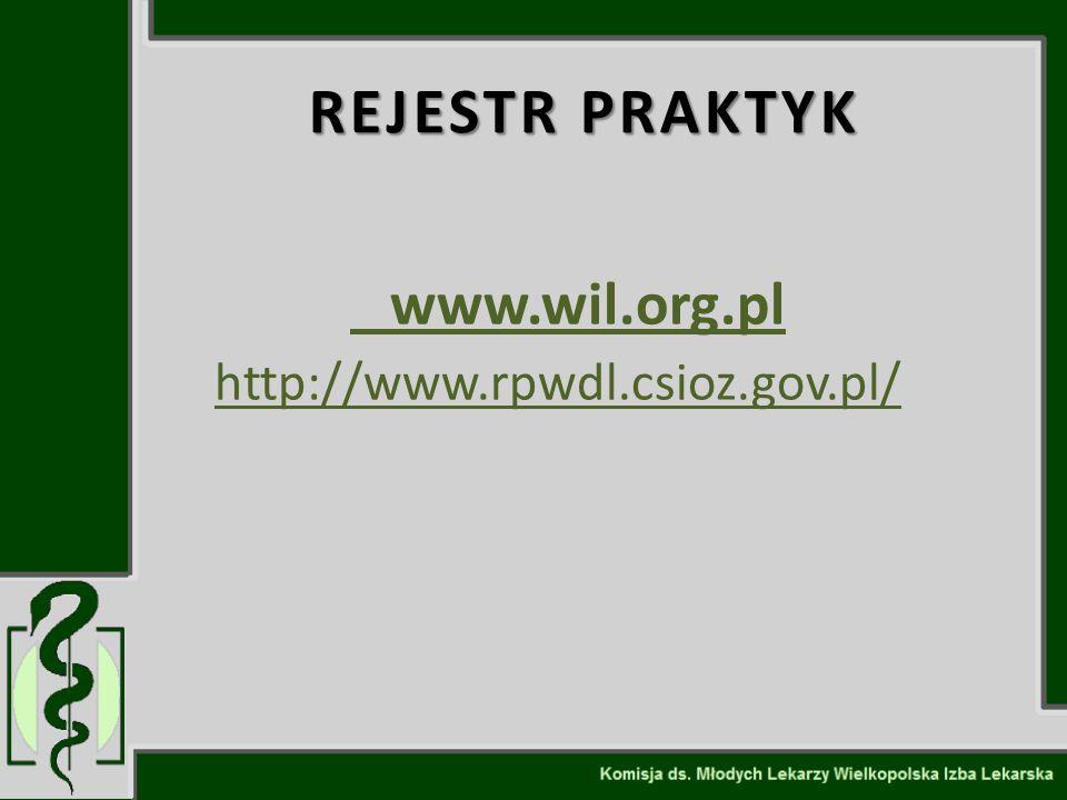 REJESTR PRAKTYK www.wil.org.pl http://www.rpwdl.csioz.gov.pl/