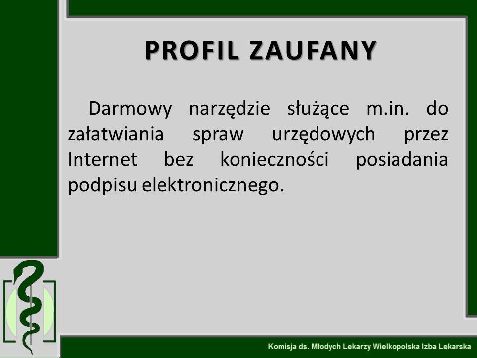 PROFIL ZAUFANY Darmowy narzędzie służące m.in.