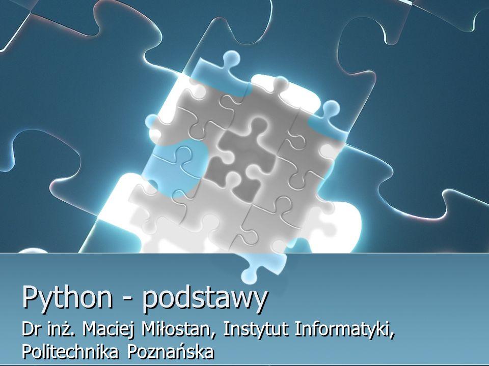 Dr inż. Maciej Miłostan, Instytut Informatyki, Politechnika Poznańska