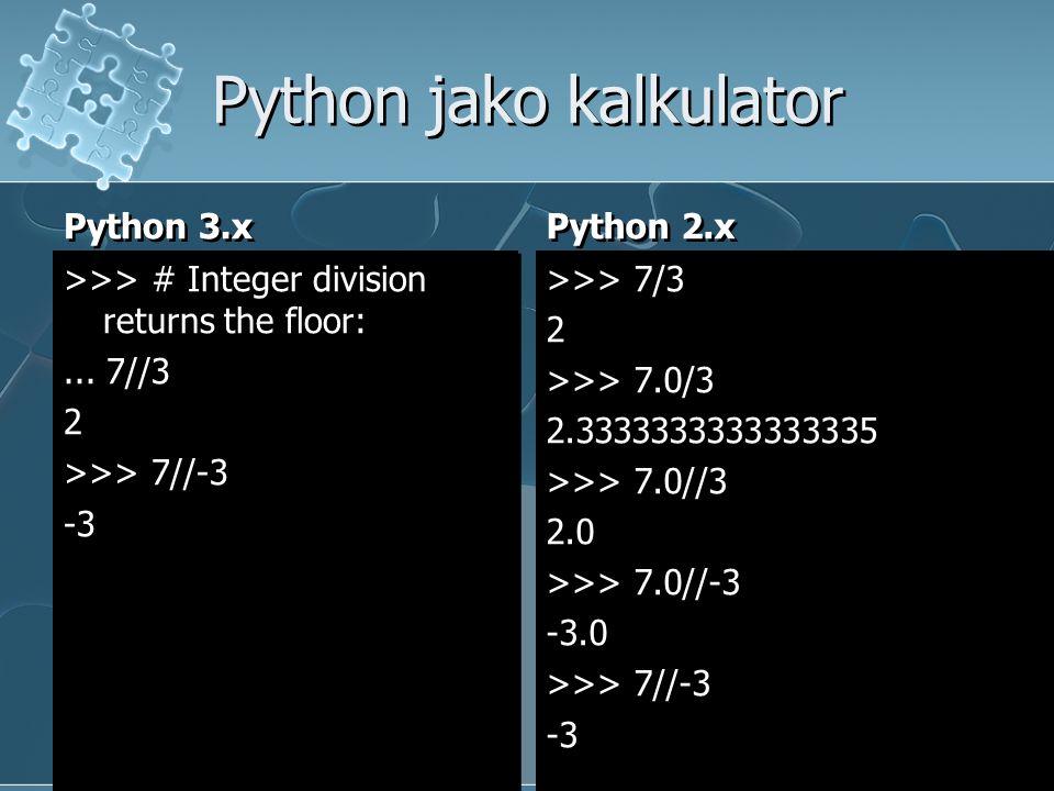 Python jako kalkulator