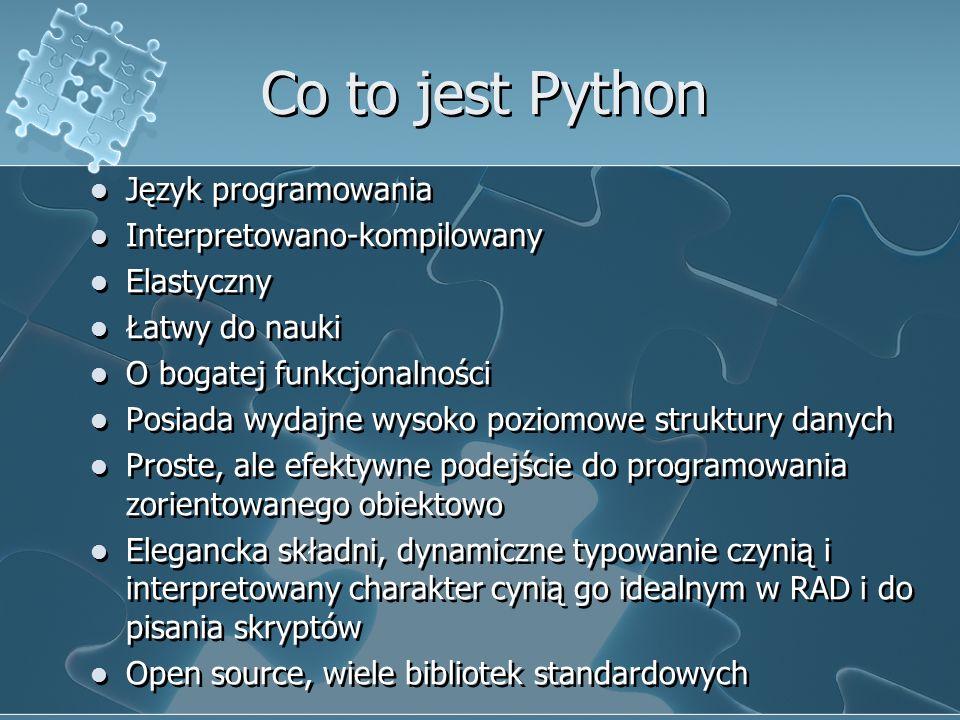 Co to jest Python Język programowania Interpretowano-kompilowany