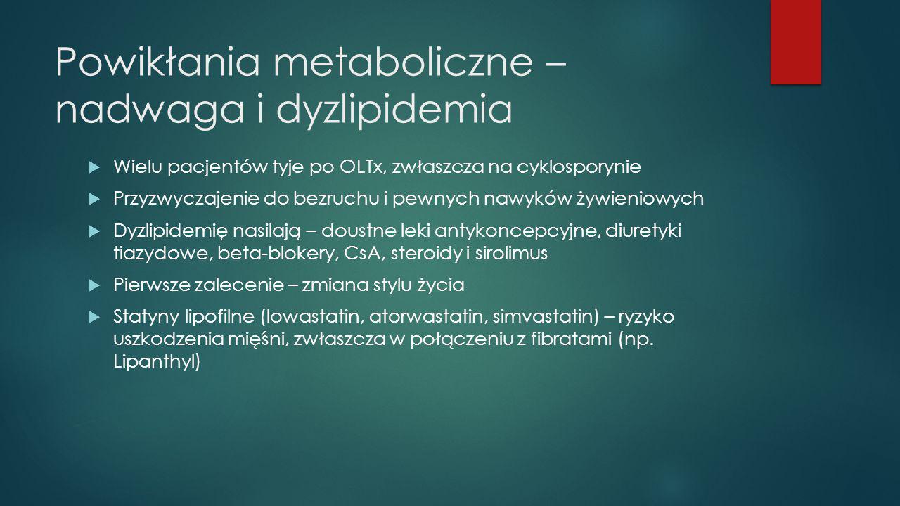 Powikłania metaboliczne – nadwaga i dyzlipidemia