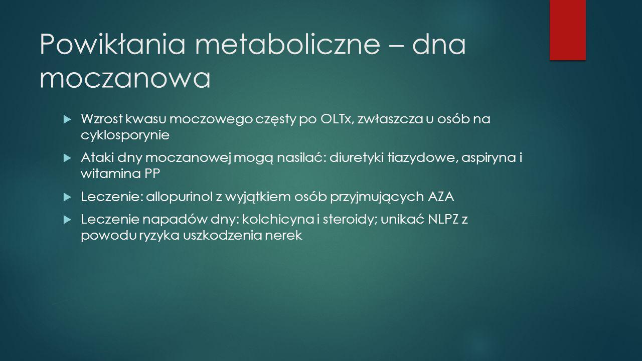 Powikłania metaboliczne – dna moczanowa