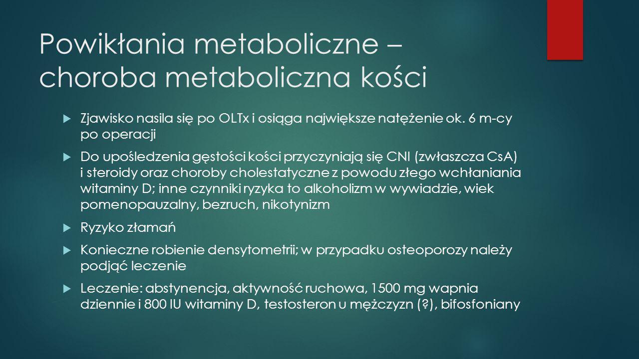 Powikłania metaboliczne – choroba metaboliczna kości