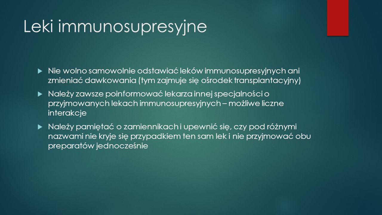 Leki immunosupresyjne
