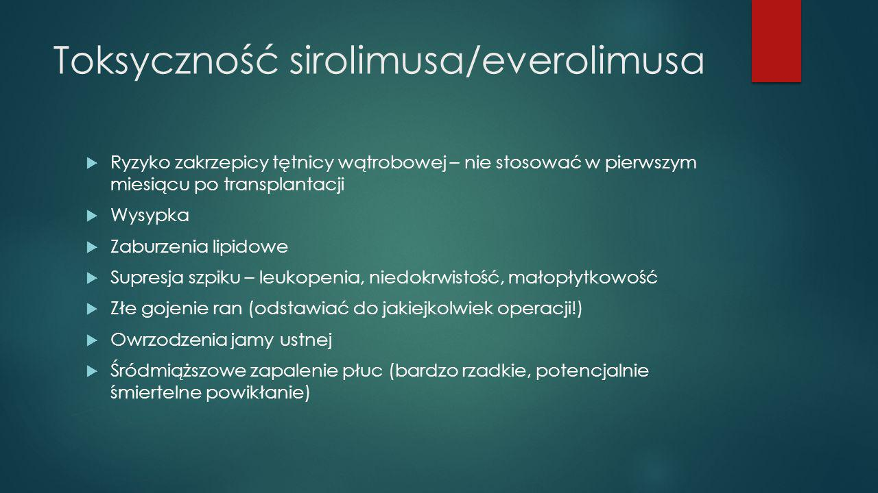 Toksyczność sirolimusa/everolimusa