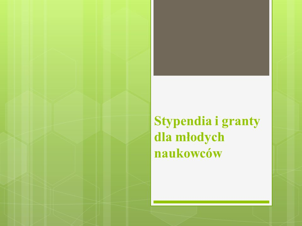 Stypendia i granty dla młodych naukowców
