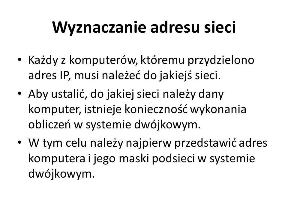 Wyznaczanie adresu sieci