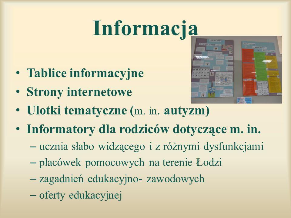 Informacja Tablice informacyjne Strony internetowe