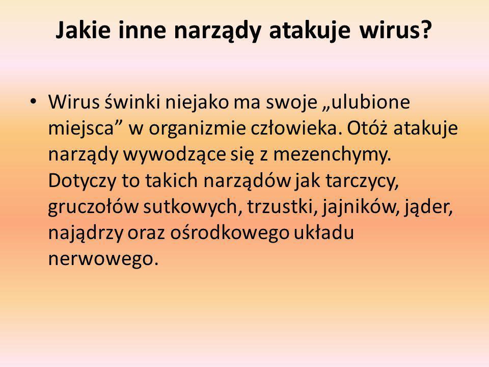 Jakie inne narządy atakuje wirus
