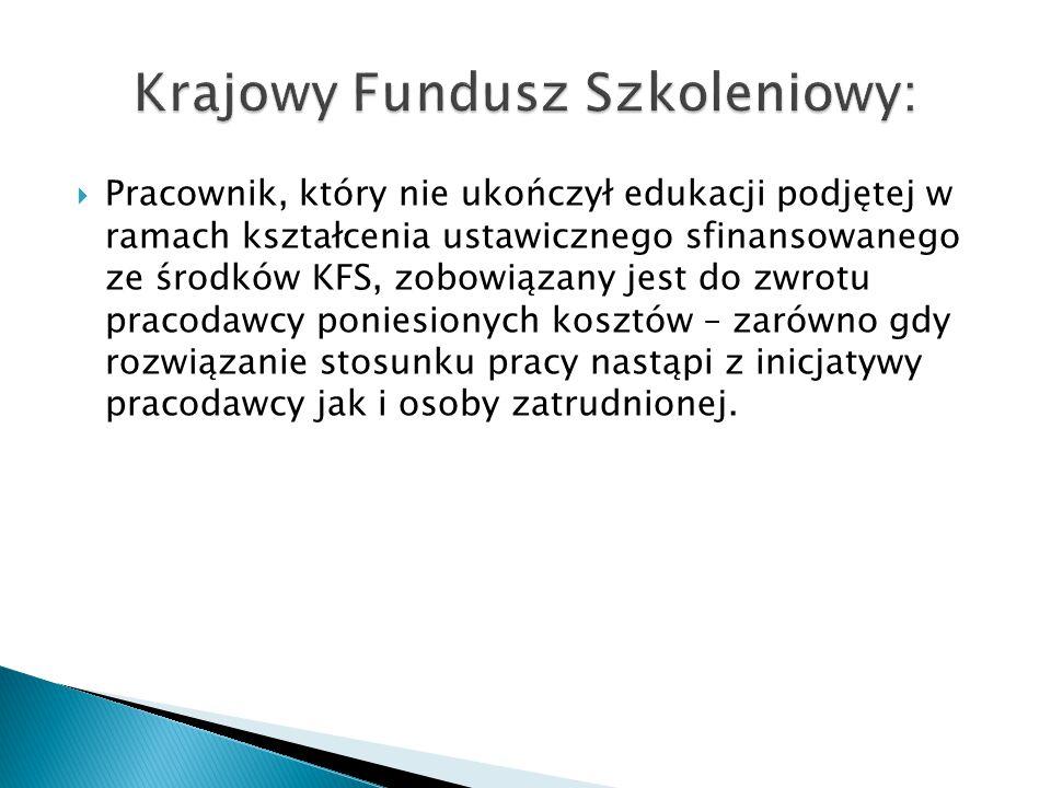 Krajowy Fundusz Szkoleniowy: