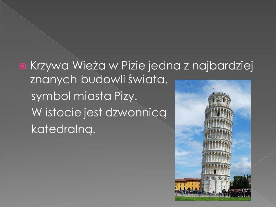 Krzywa Wieża w Pizie jedna z najbardziej znanych budowli świata,