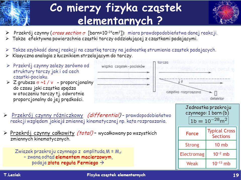 Co mierzy fizyka cząstek elementarnych
