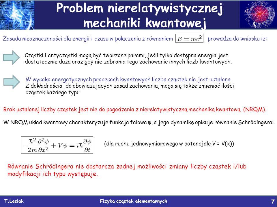 Problem nierelatywistycznej mechaniki kwantowej