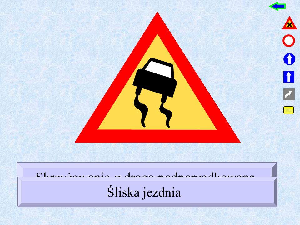 ! Skrzyżowanie z drogą podporządkowaną występującą po prawej stronie