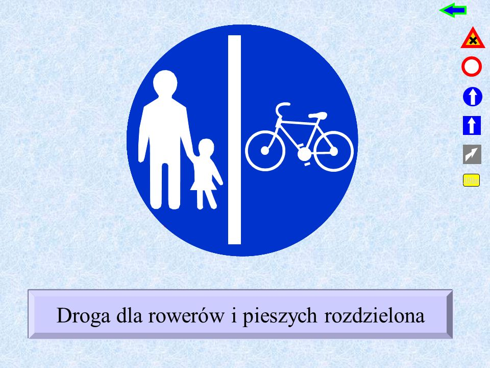 30 30 Droga dla rowerów Ruch okrężny Prędkość minimalna