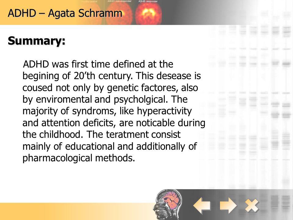 Summary: ADHD – Agata Schramm