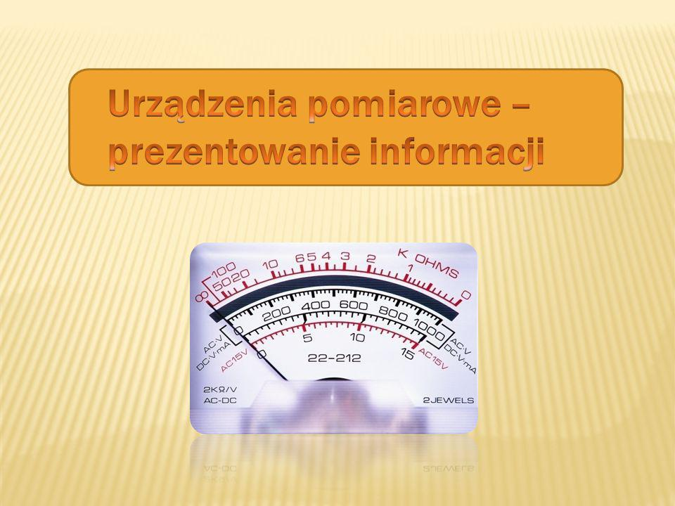 Urządzenia pomiarowe – prezentowanie informacji
