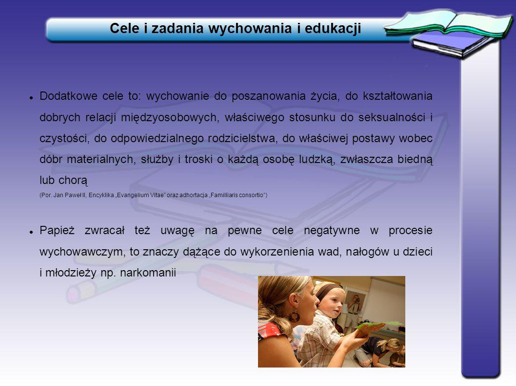 Cele i zadania wychowania i edukacji