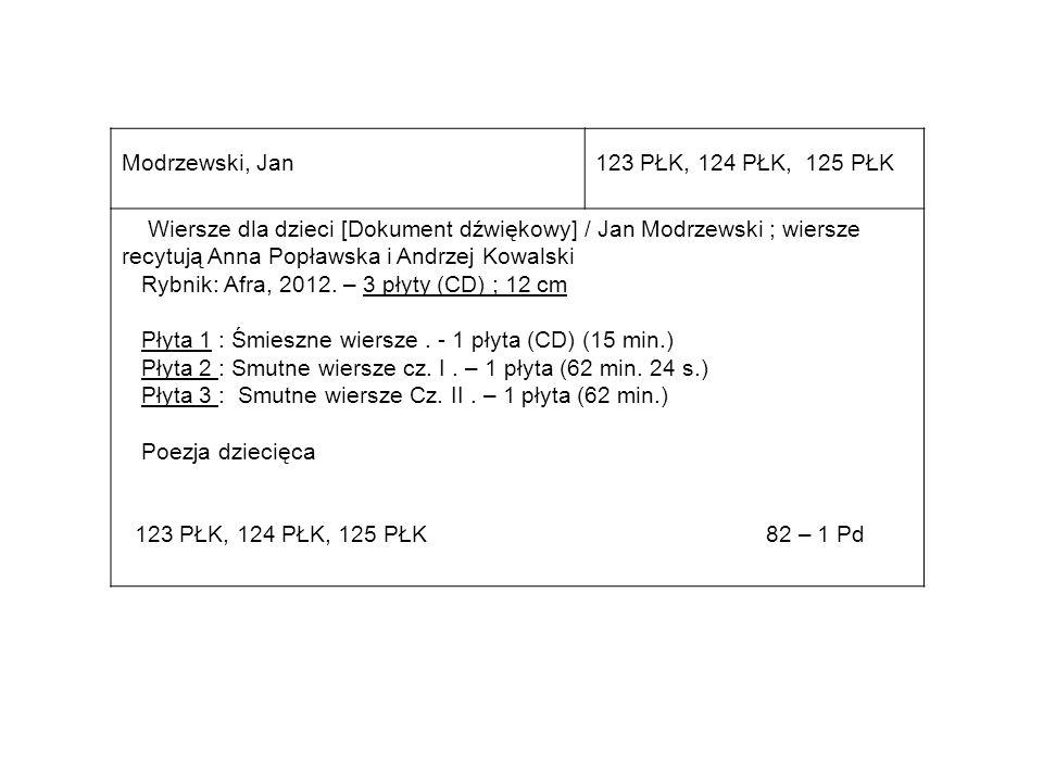 Modrzewski, Jan 123 PŁK, 124 PŁK, 125 PŁK.