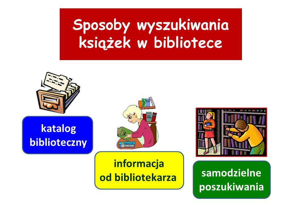 Sposoby wyszukiwania książek w bibliotece samodzielne poszukiwania