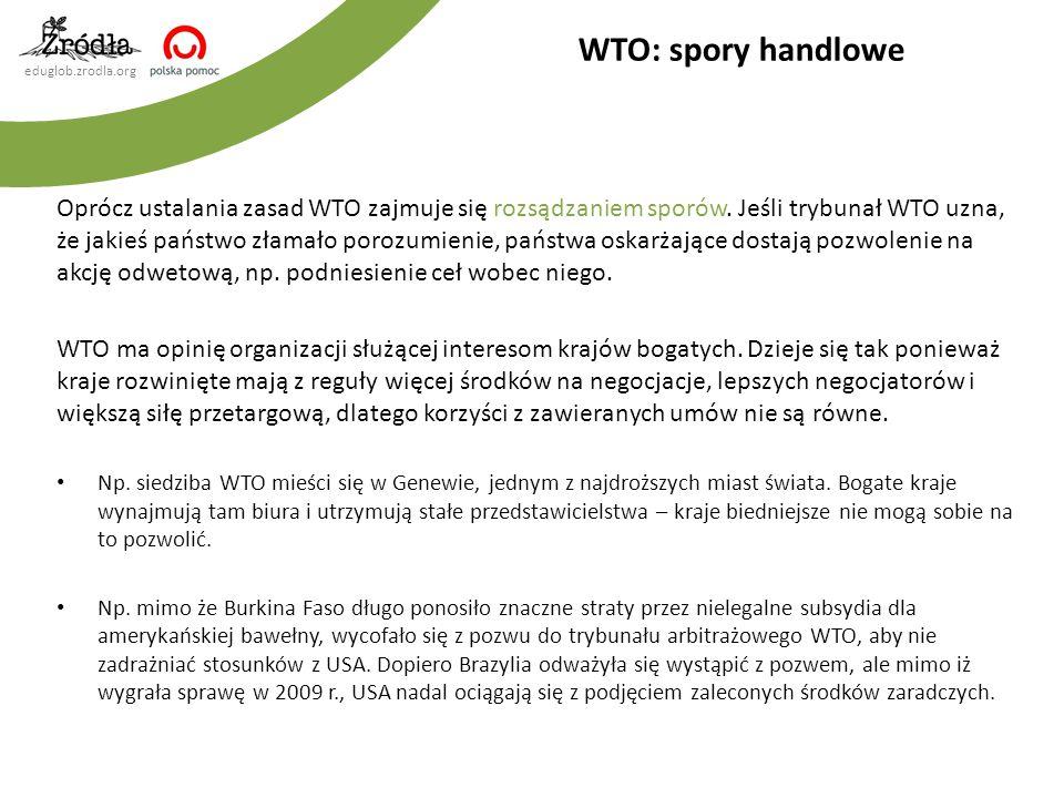 WTO: spory handlowe