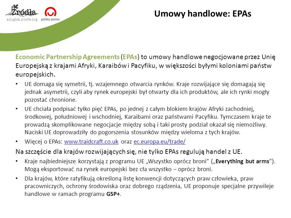 Umowy handlowe: EPAs