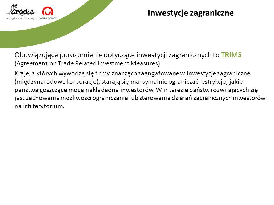Inwestycje zagraniczne