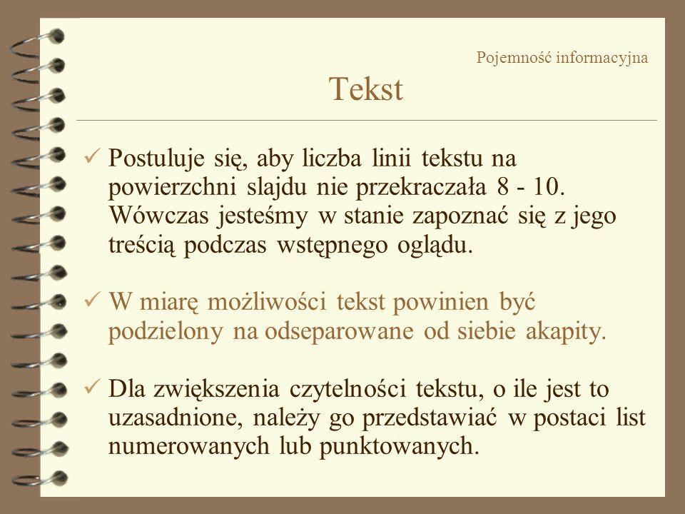 Pojemność informacyjna Tekst