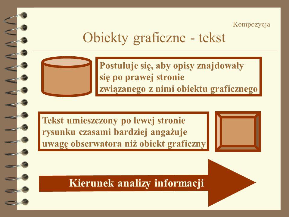 Kompozycja Obiekty graficzne - tekst