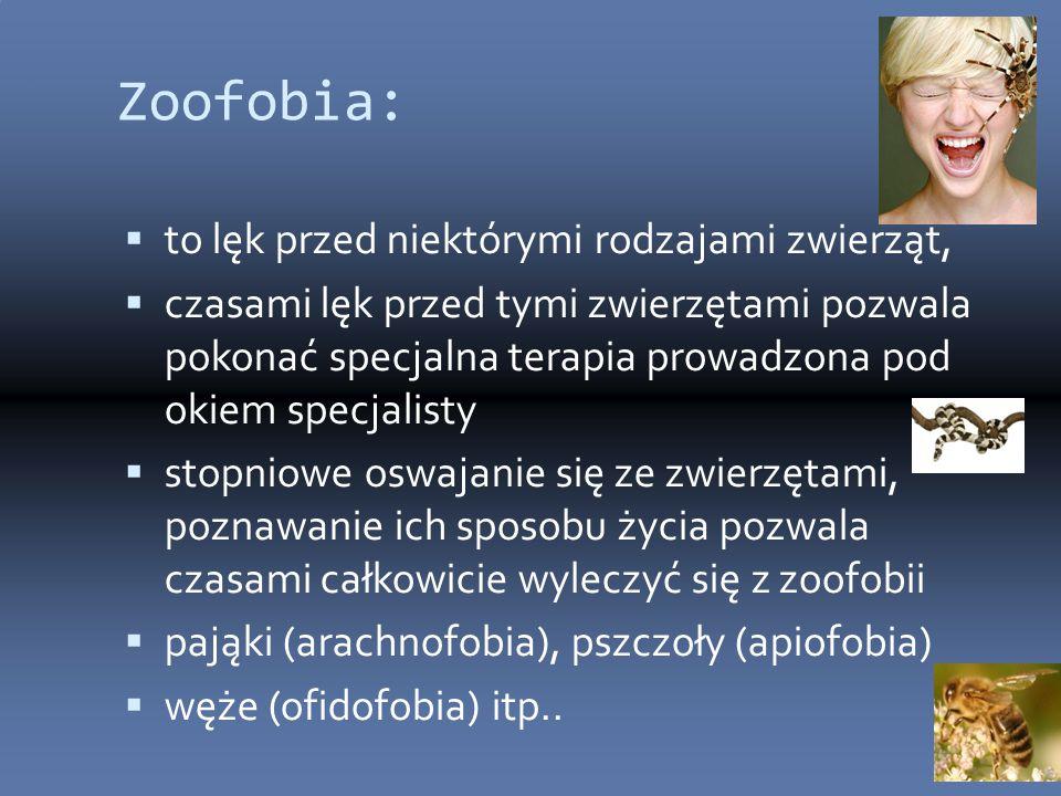 Zoofobia: to lęk przed niektórymi rodzajami zwierząt,