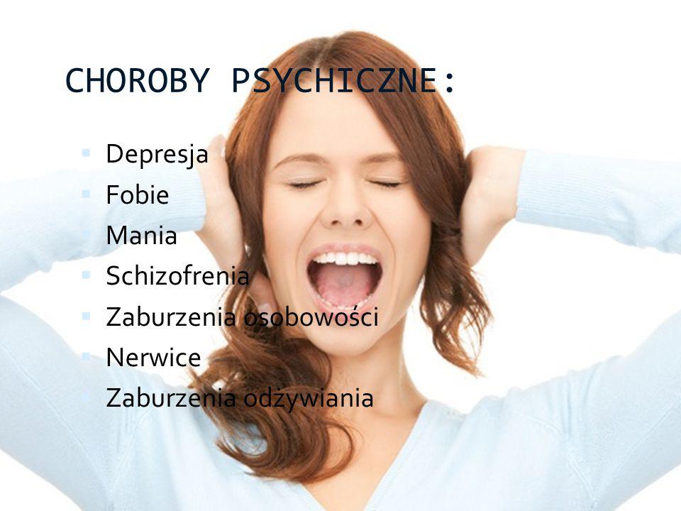 CHOROBY PSYCHICZNE: Depresja Fobie Mania Schizofrenia