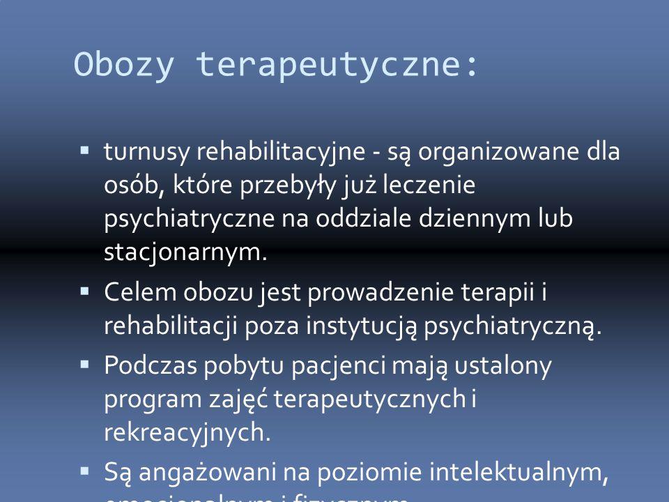 Obozy terapeutyczne: