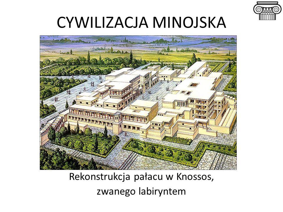 Rekonstrukcja pałacu w Knossos,
