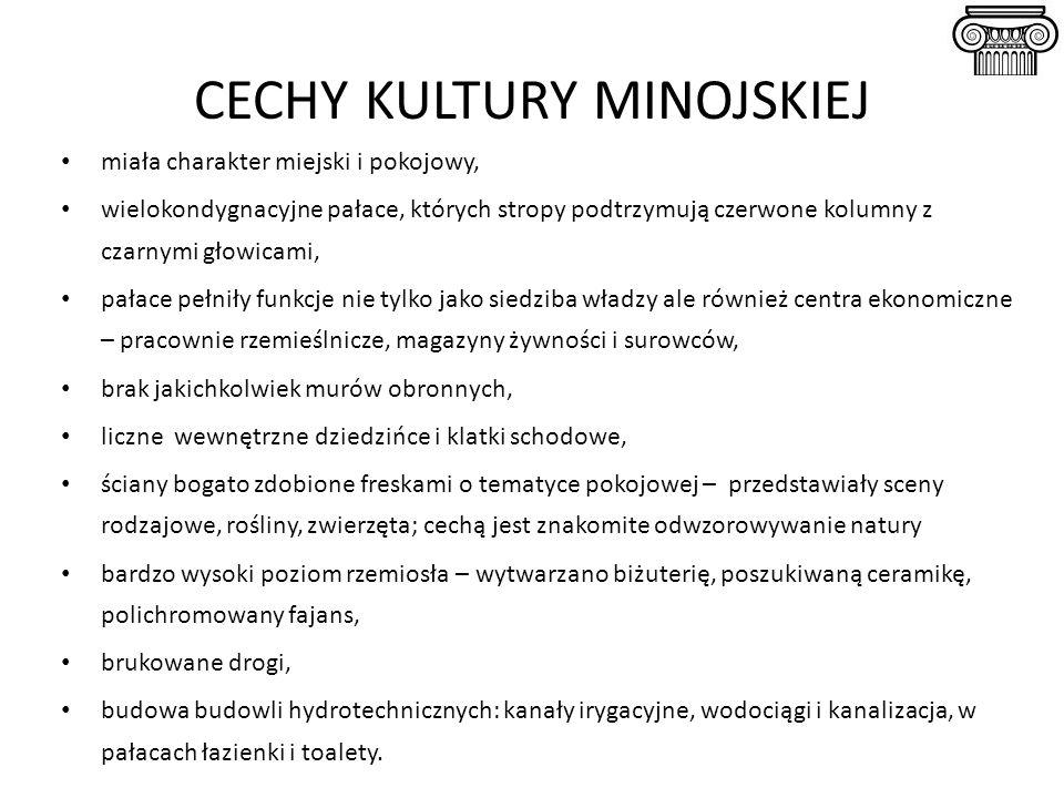 CECHY KULTURY MINOJSKIEJ