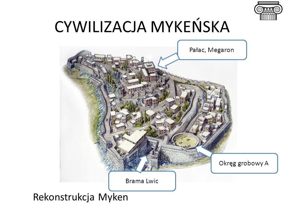 CYWILIZACJA MYKEŃSKA Rekonstrukcja Myken Pałac, Megaron