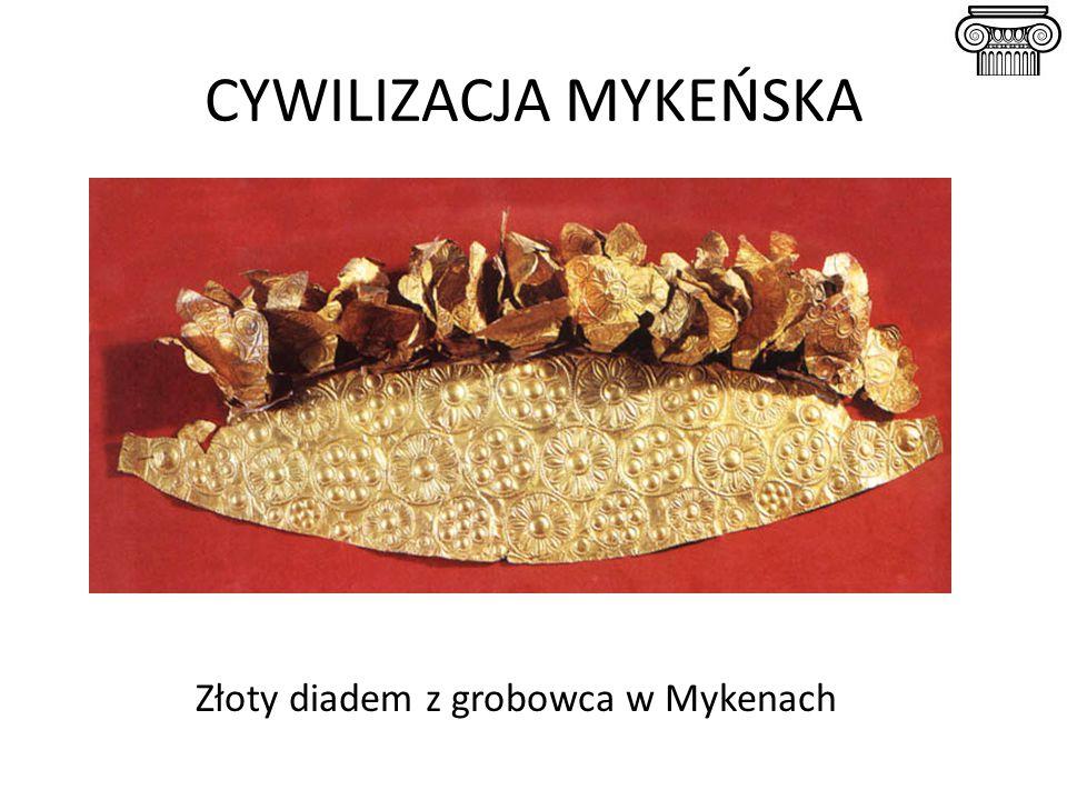 Złoty diadem z grobowca w Mykenach