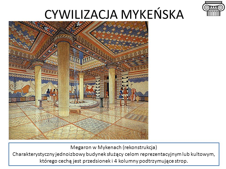 Megaron w Mykenach (rekonstrukcja)