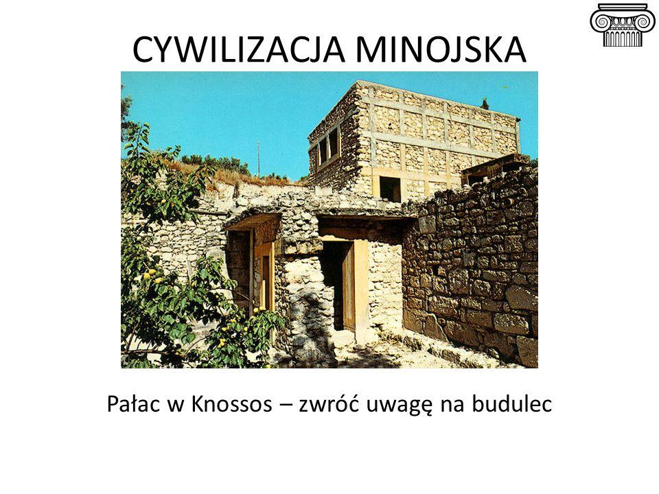 Pałac w Knossos – zwróć uwagę na budulec