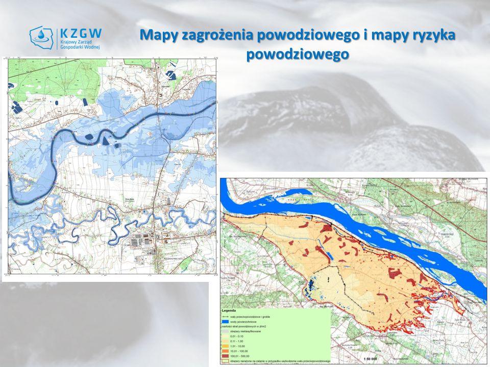 Mapy zagrożenia powodziowego i mapy ryzyka powodziowego