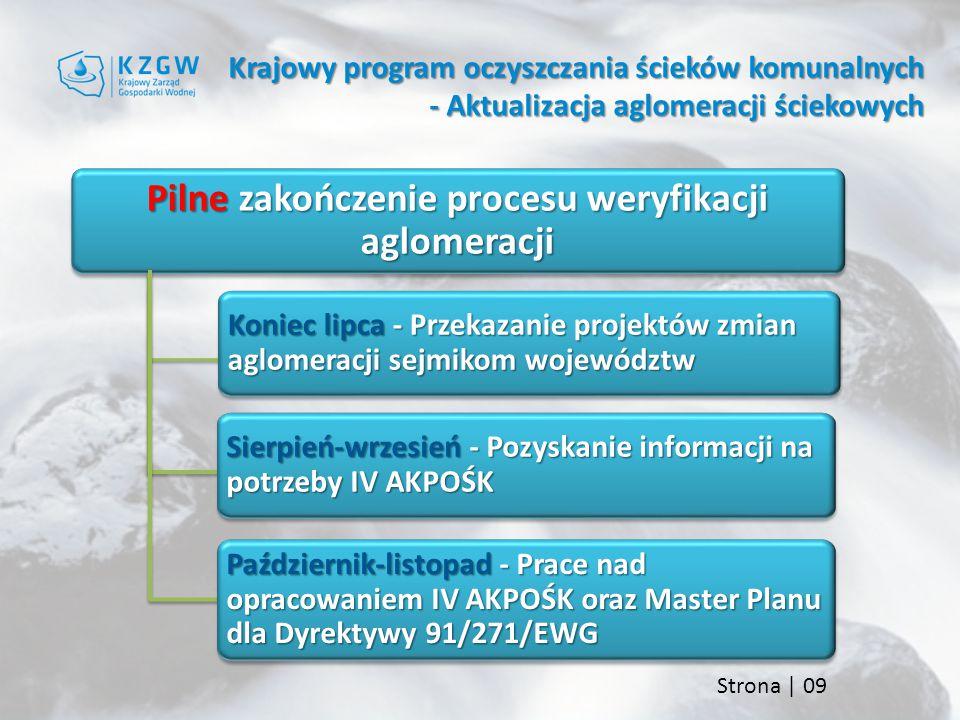 Pilne zakończenie procesu weryfikacji aglomeracji