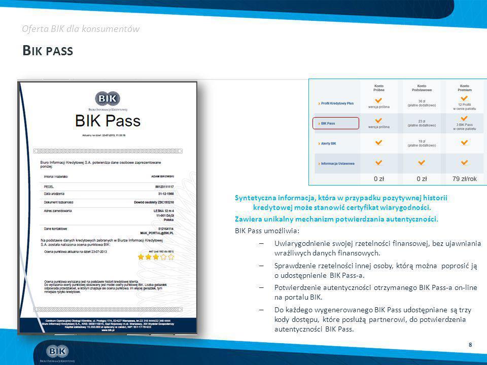 Bik pass Oferta BIK dla konsumentów