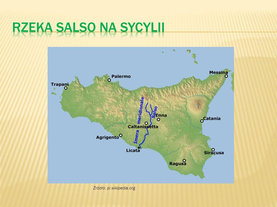 Rzeka Salso na Sycylii Źródło: pl.wikipedia.org