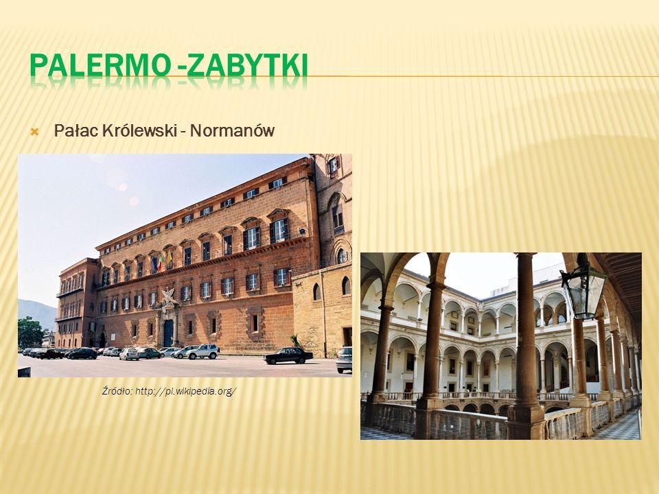 Palermo -zabytki Pałac Królewski - Normanów
