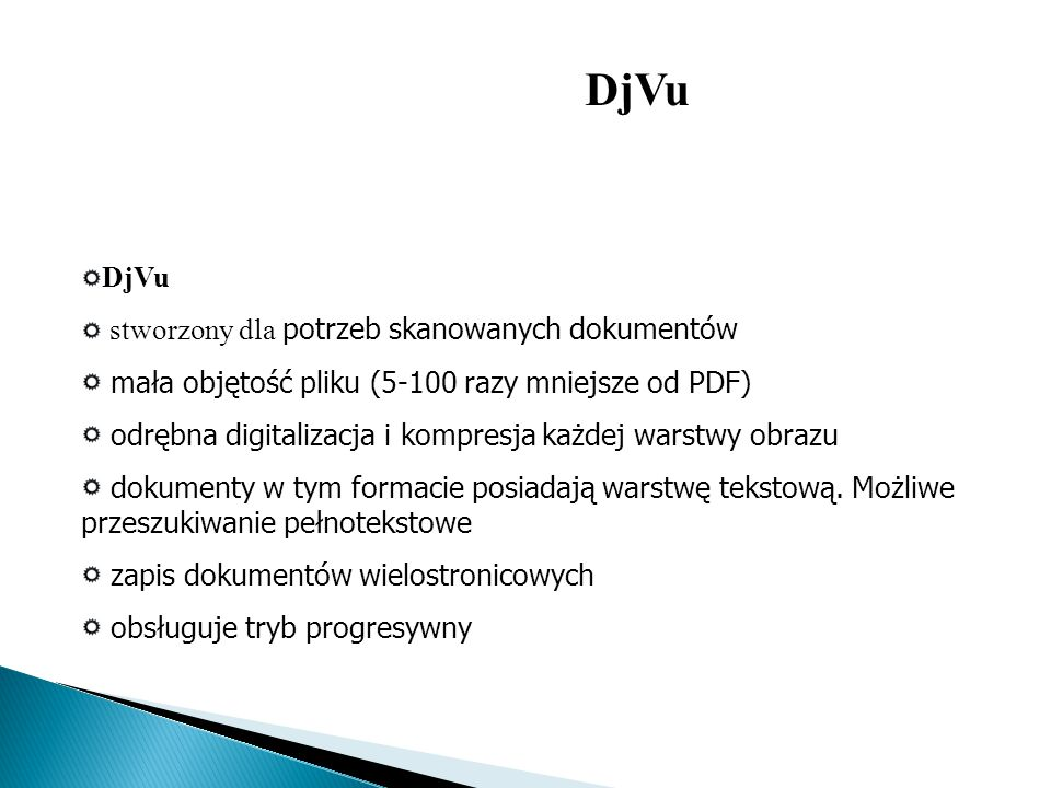 DjVu DjVu stworzony dla potrzeb skanowanych dokumentów