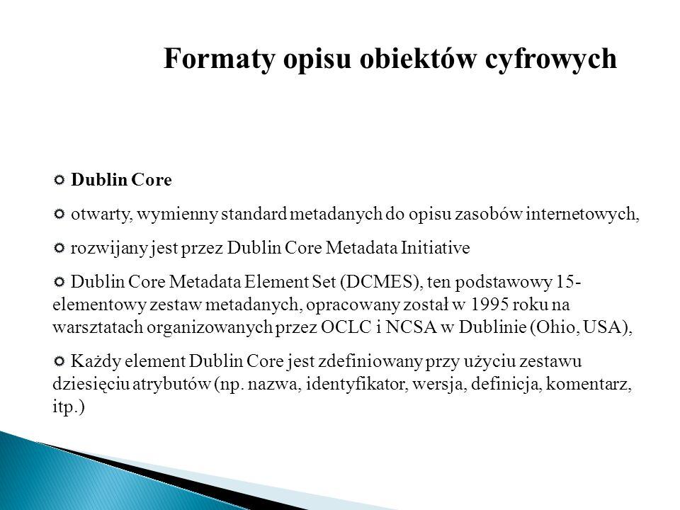 Formaty opisu obiektów cyfrowych