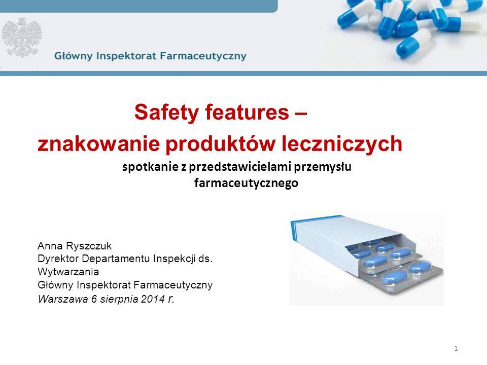 Safety features – znakowanie produktów leczniczych