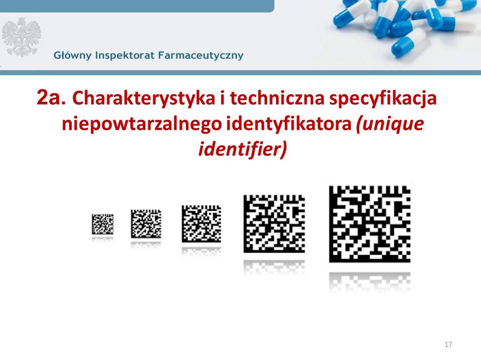 2a. Charakterystyka i techniczna specyfikacja niepowtarzalnego identyfikatora (unique identifier)