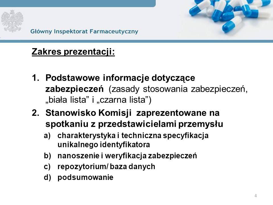 """Zakres prezentacji: Podstawowe informacje dotyczące zabezpieczeń (zasady stosowania zabezpieczeń, """"biała lista i """"czarna lista )"""